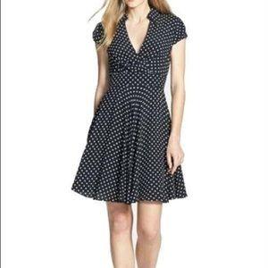 Betsey Johnson Polka Dot Faux Wrap Dress